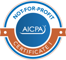 not for profit certified by the AICPA